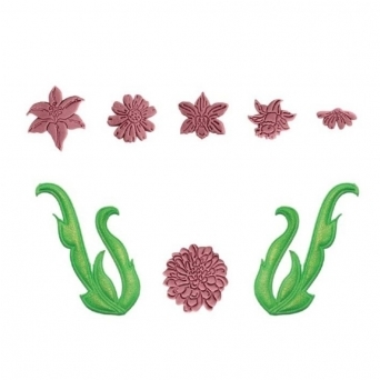 Floral Scrolls And Trims Cutter Set Of 8 By JEM Cutters