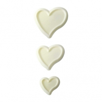 Funky Heart Set Cutters - Pack Of 3 By JEM Cutters
