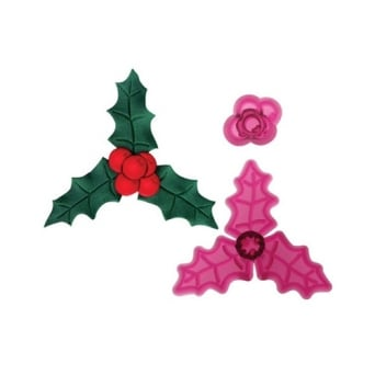 Holly And Berries 2 Piece Cutter Set By JEM Cutters