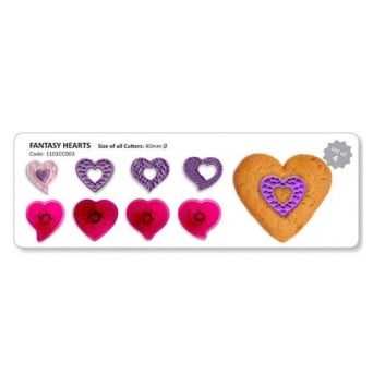 Fantasy Hearts Cutter Set Of 4 By JEM
