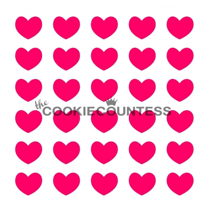 JEM Hearts Cookie Stencil - The Cookie Countess