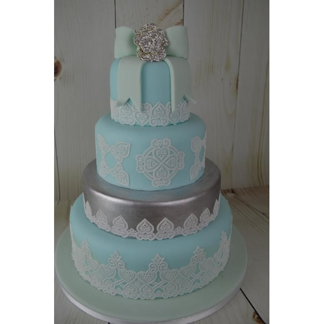 Cake Lace Juliet Design - Ready Made - Pearl