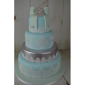 Juliet Design - Ready Made Cake Lace - Pearl