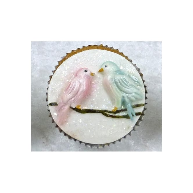 Karen Davies Alice Love Birds Cupcake Topper Mould