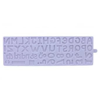 Alphabet And Numbers Mould