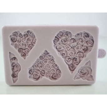 Piped Rose Hearts Mould
