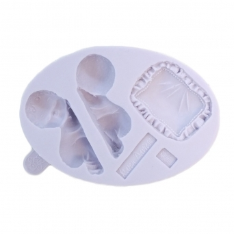 Sleeping Baby And Pillow Mould