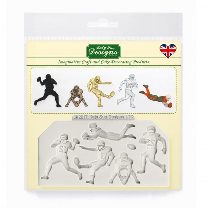 Katy Sue Designs American Football Silhouettes Silicone Mould