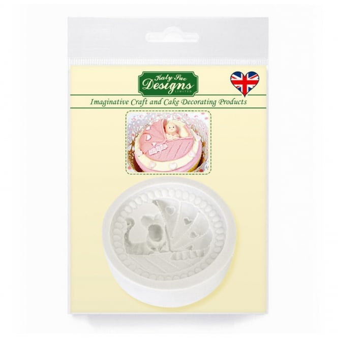 Katy Sue Designs Baby 2 Pram Cupcake Topper Mould