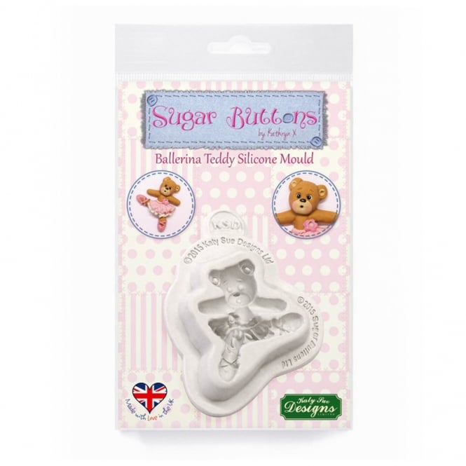 Katy Sue Designs Ballerina Teddy Mould - Sugar Buttons