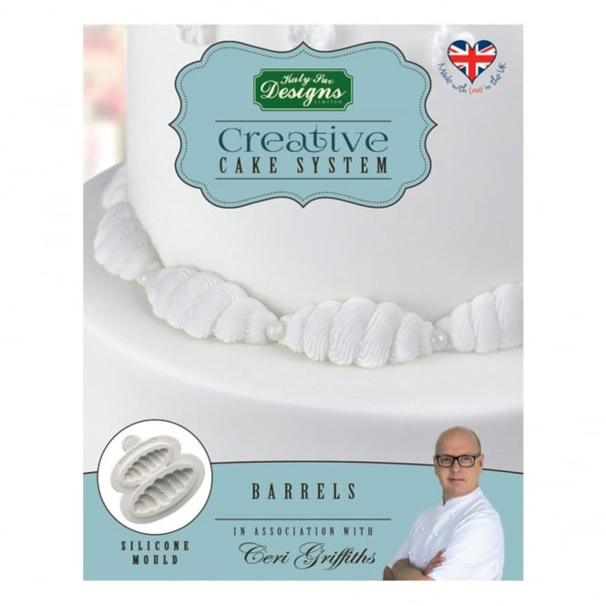 Katy Sue Designs Barrels Creative Cake System Mould Ceri Griffiths