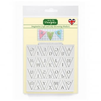 Bunting Alphabet Upper Case Designer Mat Mould