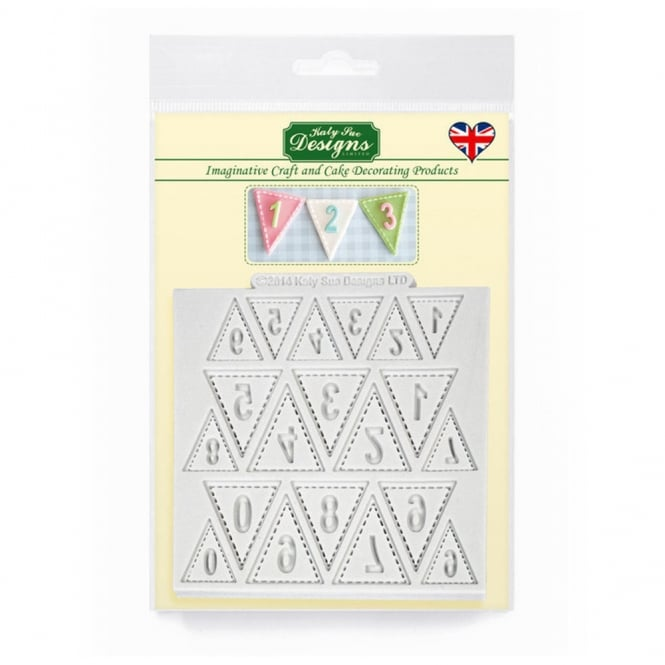 Katy Sue Designs Bunting Numbers Designer Mat Mould