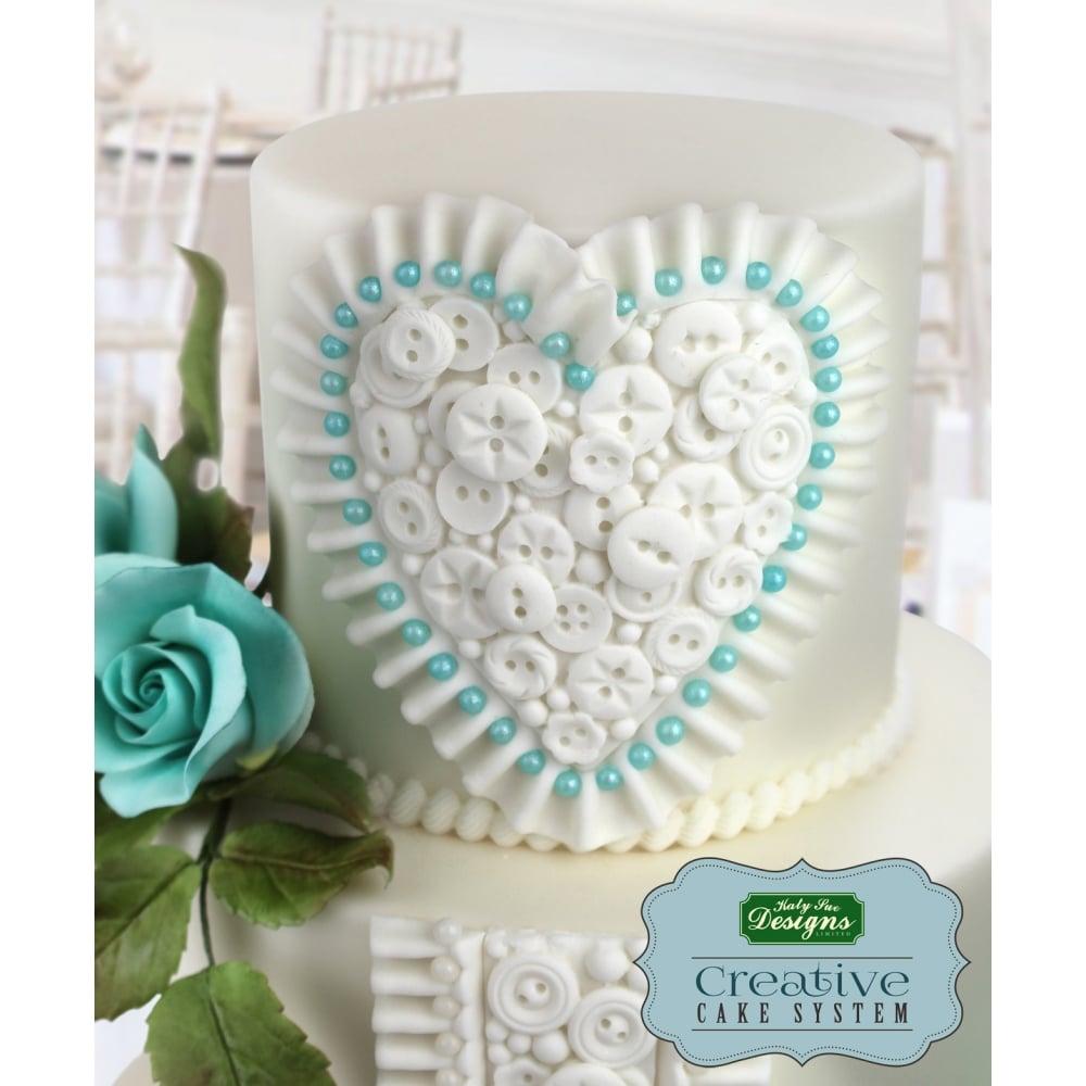 Katy Sue Designs Button Hearts Creative Cake System Mould Ceri ...