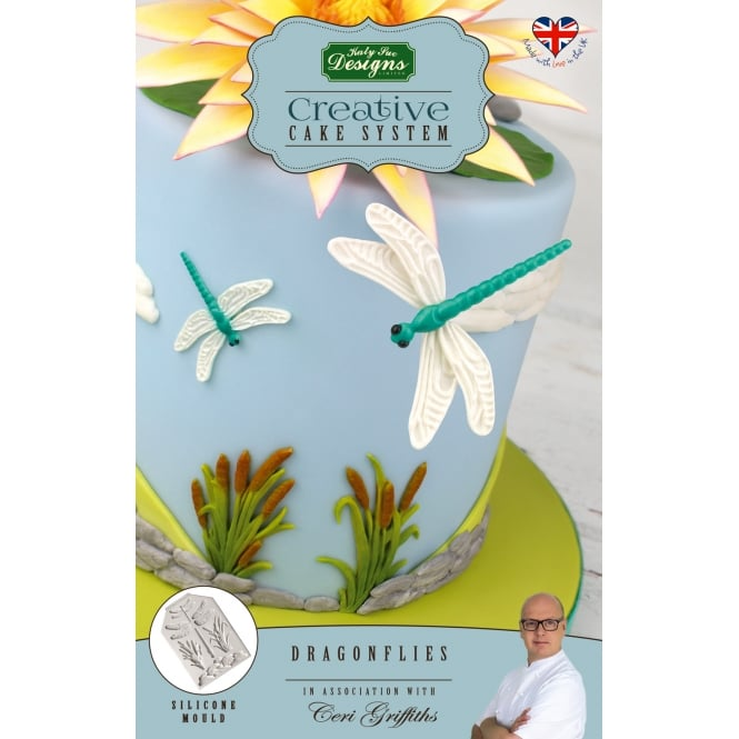 Katy Sue Designs Dragonflies Creative Cake System Mould Ceri Griffiths