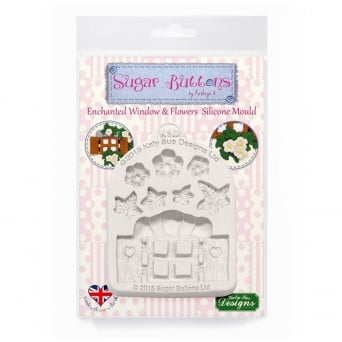 Enchanted Window & Flowers Mould - Sugar Buttons