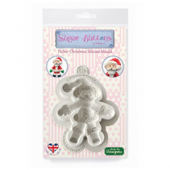 Katy Sue Designs Father Christmas Sugar Buttons Mould