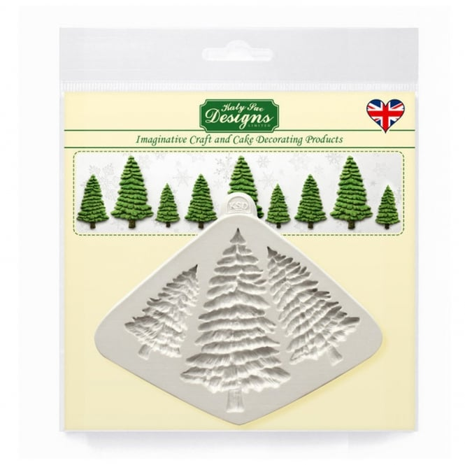 Katy Sue Designs Fir Trees Silhouettes Mould
