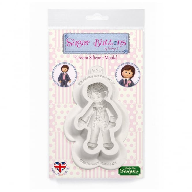 Katy Sue Designs Groom Silicone Mould - Sugar Buttons