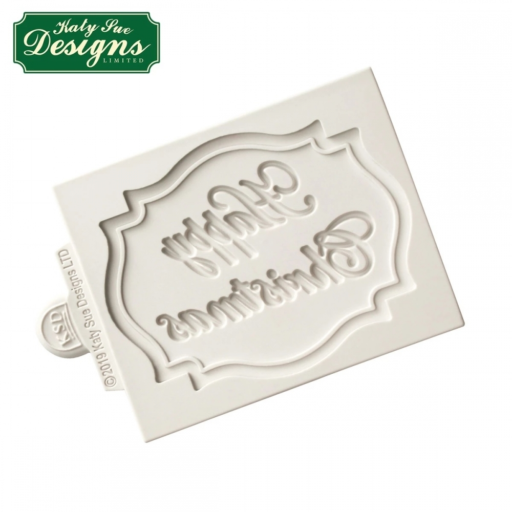 Large Happy Christmas Plaque Mould Christmas Cake Moulds Katy Sue