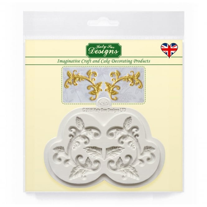 Katy Sue Designs Leaf Flourish Embellishment Mould