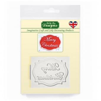 Merry Christmas Mini Plaque Mould
