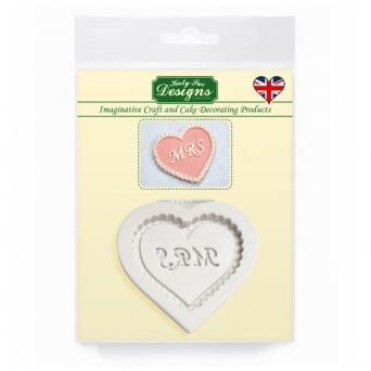 Mrs Heart Decorative Plaque Mould