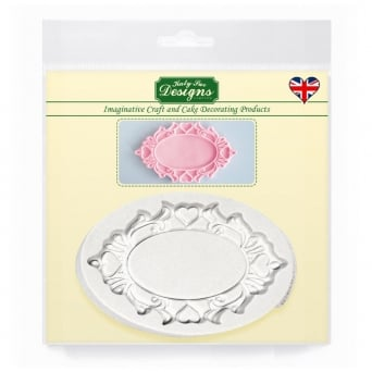 Oval Hearts Plaque Mould