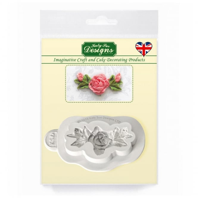 Katy Sue Designs Rose, Bud And Leaf Decorating Embellishment Mould