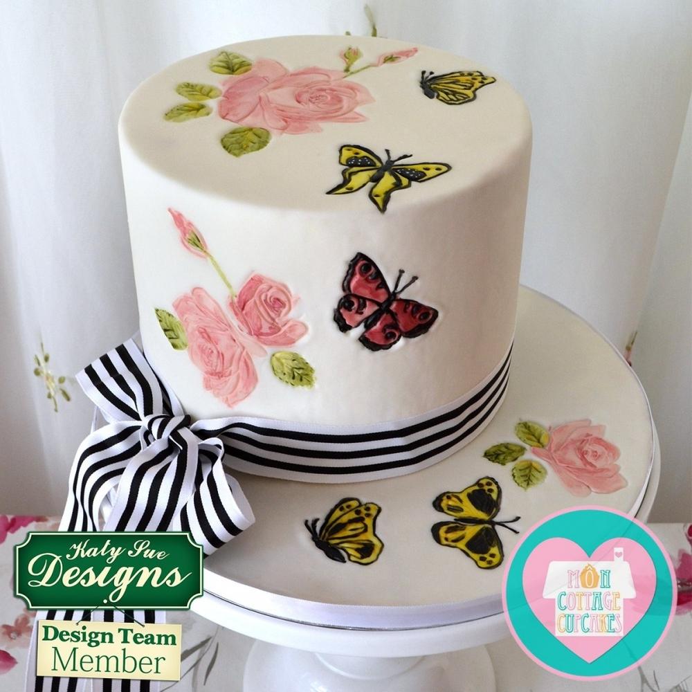 Pleasant Roses Creative Cake Embossers Katy Sue Rose Embosser Tool Personalised Birthday Cards Bromeletsinfo