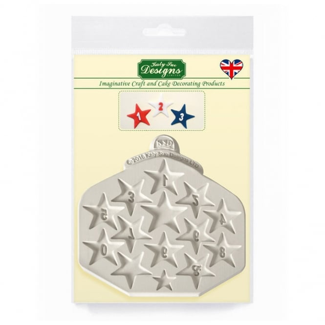 Katy Sue Designs Star Number Mould