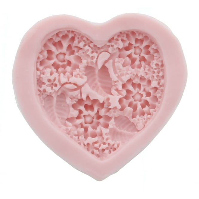 Sunflower Sugar Art  Large Heart Of Flowers Mould By Sunflower Sugar Art