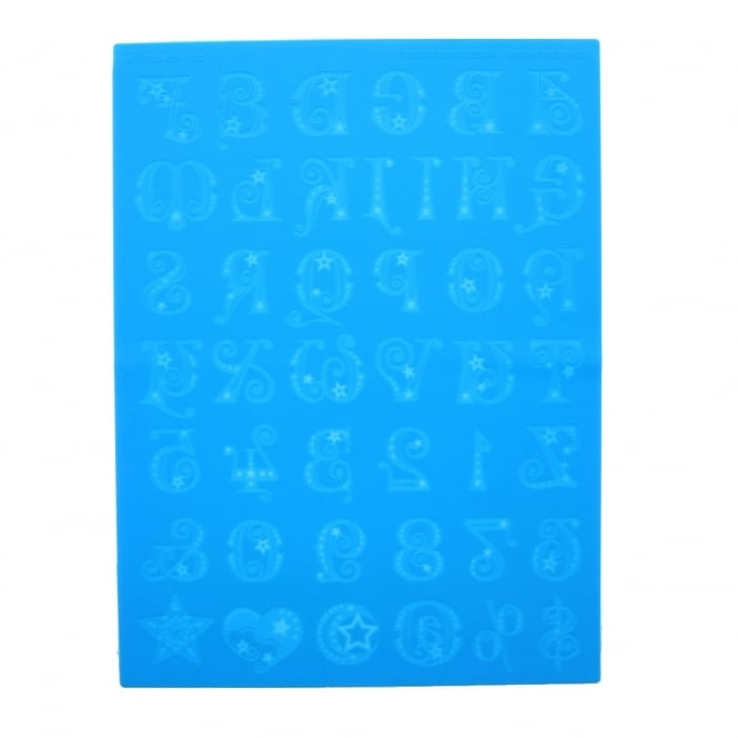 Letters, Numbers and Symbols Lace Mat