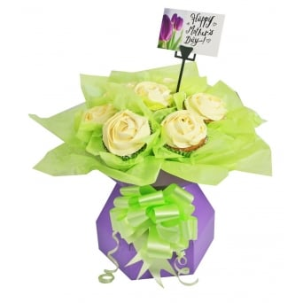 Lilac Cupcake Bouquet Box Kit