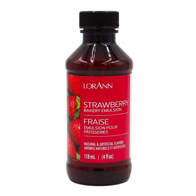 LorAnn Strawberry Baking Emulsion - 4oz Food Flavouring Oils