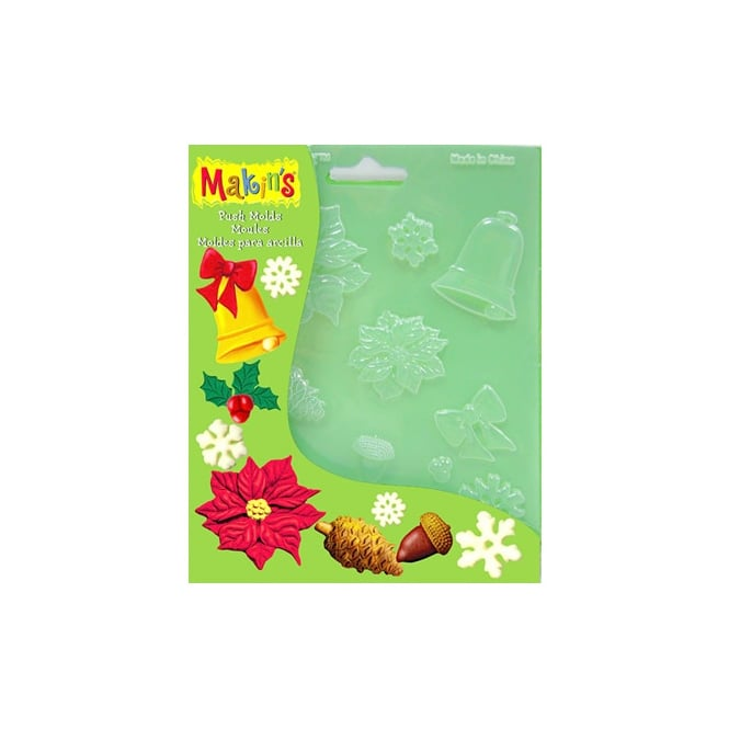 Makins Christmas Nature Push Mould
