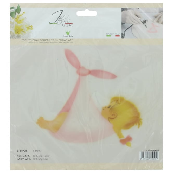 Martellato Baby Girl 5 Step Professional Airbrushing Stencil