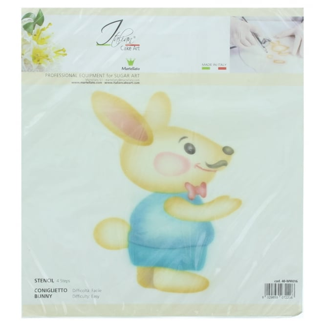 Martellato Male Bunny 4 Step Professional Airbrushing Stencil