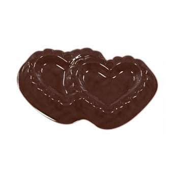 Double Filigree Heart Valentine Chocolate Mould