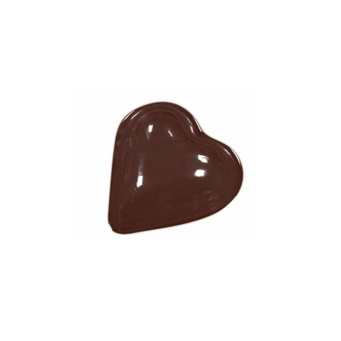 Martellato Small Plain Heart Chocolate Mould