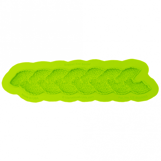 Marvelous Molds Braided Knit Border Mould