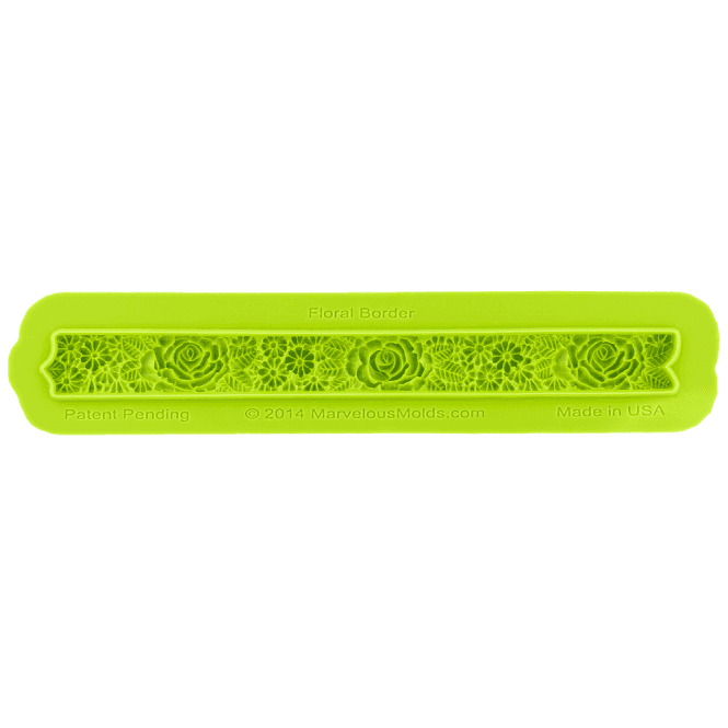 Marvelous Molds Floral Border Silicone Mould