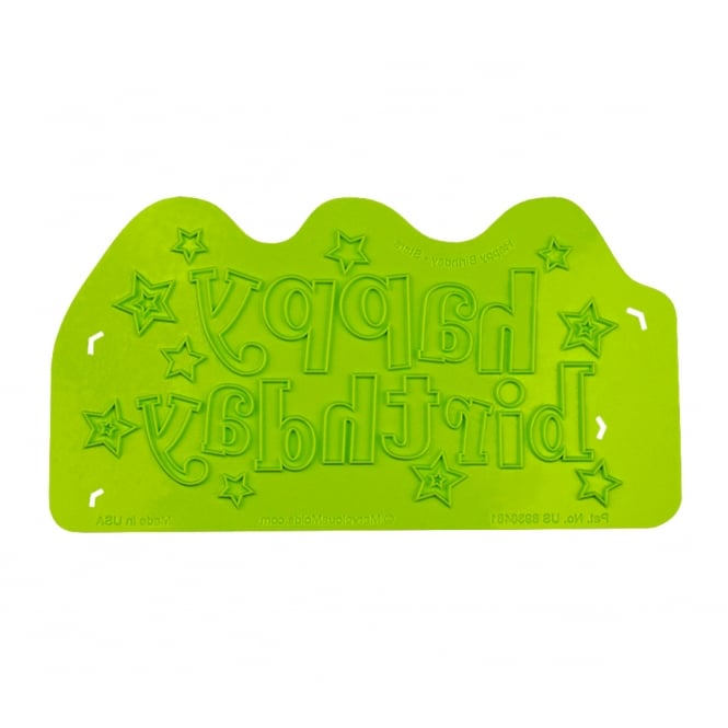Marvelous Molds Happy Birthday Stars Silicone Onlay