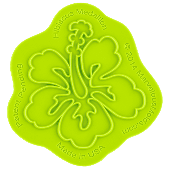 Marvelous Molds Hibiscus Medallion Silicone Onlay