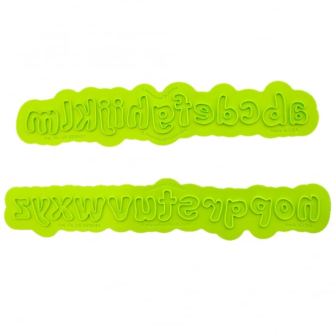 Marvelous Molds Lowercase Alphabet Bubble Flexabet Onlay