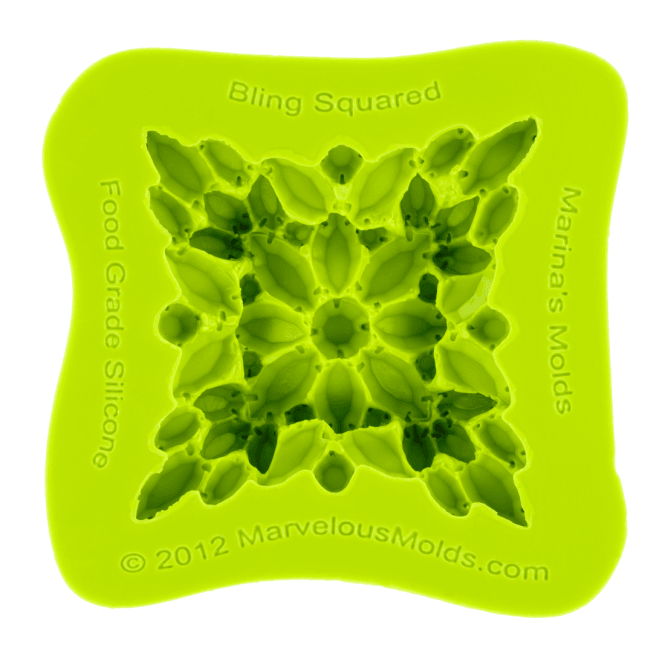 Marvelous Molds Marina Sousa Bling Squared Jewell Silicone Mould