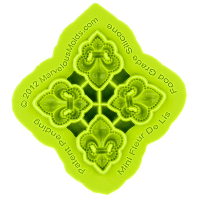 Marvelous Molds Mini Fleur De Lis Silicone Mould