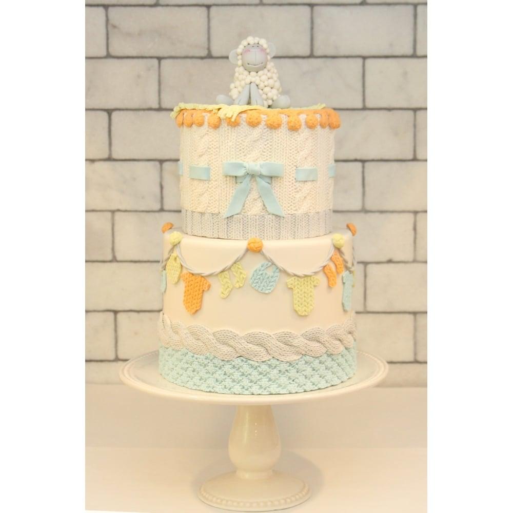 Pom Pom Knit Border Mould | Cake Decorating Moulds