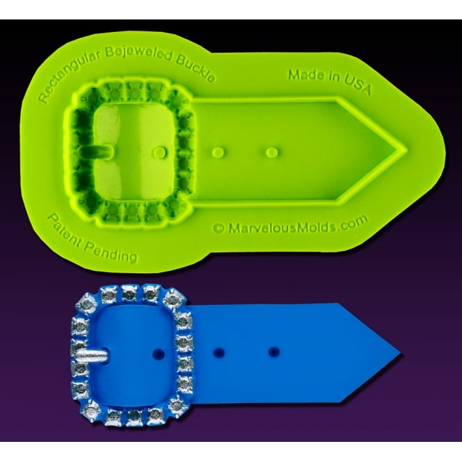 Marvelous Molds Rectangular Bejeweled Buckle Mould