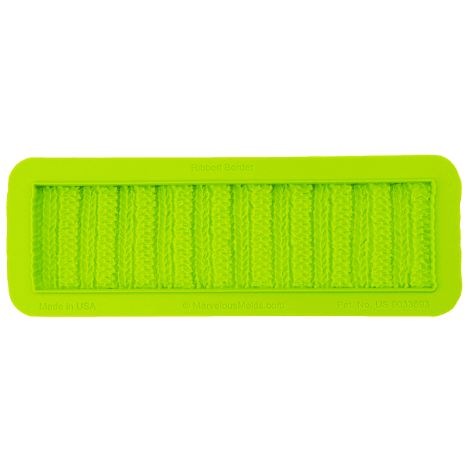 Marvelous Molds Ribbed Knit Border Mould